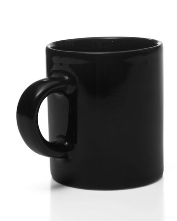 Black coffee cup, isolated photo
