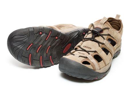 breathable: Man paio di scarpe, isolate, su sfondo bianco