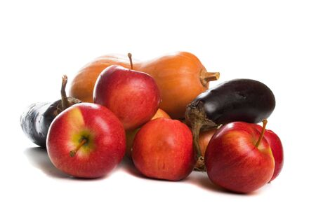 Autumn fruit and vegetables, isolated Stock Photo - 3644799