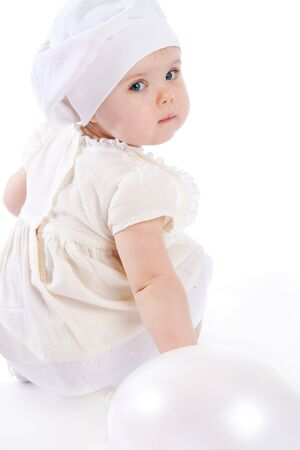 Little angel in white photo
