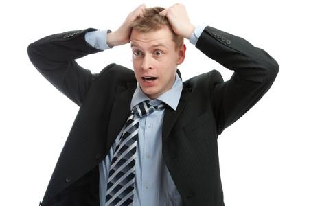 Portrait of a businessman in despair Stock Photo - 4383502