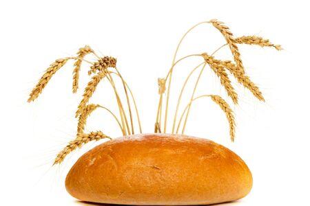 bread loaf: Pagnotta di pane di frumento con picchi