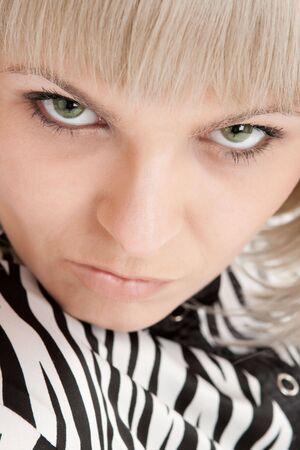 Closeup portrait of a blond woman photo