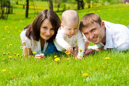 Lovely family in the park Stock Photo - 4983763