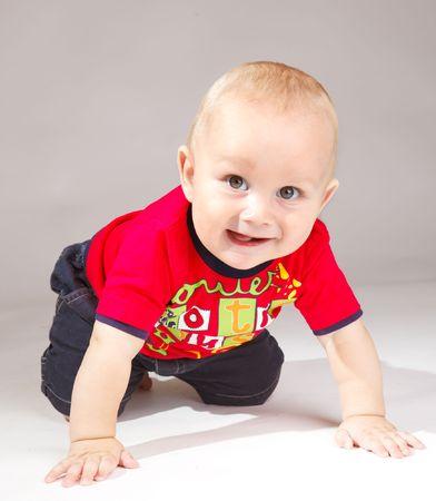 Cute boy crawling Stock Photo - 5362037