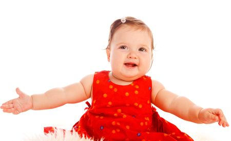 cutie: Little cutie trying to dance Stock Photo