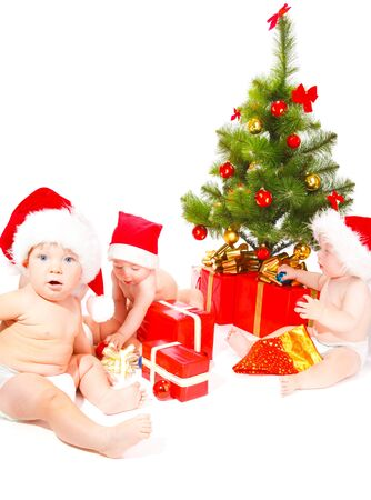 A group of Christmas babies sitting photo