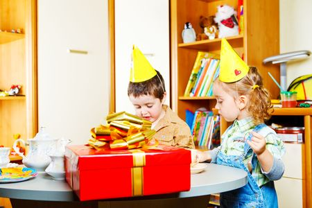 kids' room: Birthday party in a kids room