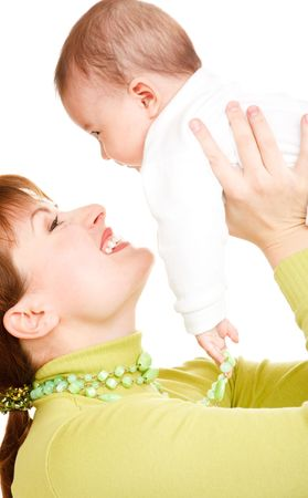 Happy mother with baby Stock Photo - 6264752