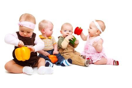 Vegetarian babies Stock Photo - 6536626