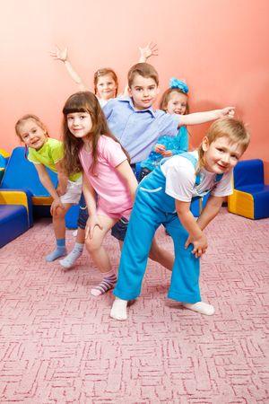 A group of happy preschool kids photo
