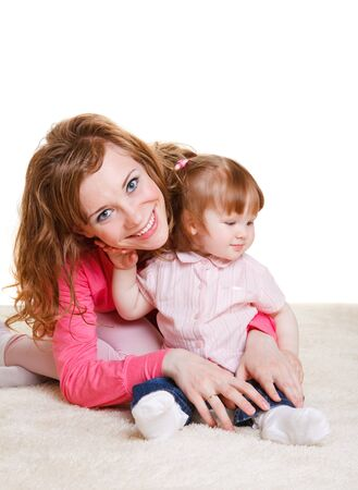 Young mother and her beautiful baby daughter Stock Photo - 7367509