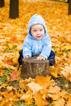 Sweet baby boy playing photo