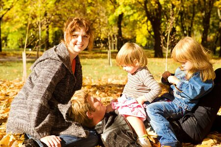 Family enjoying time in the outdoor Stock Photo - 7498604