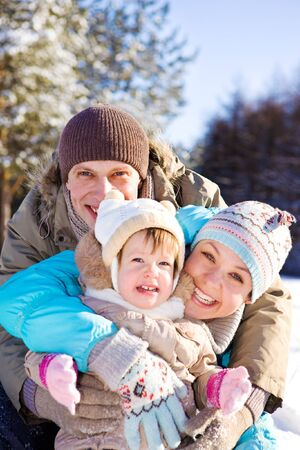 Portrait of a lovely family laughing photo