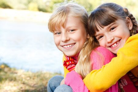 Two cheerful sisters Stock Photo - 7872238
