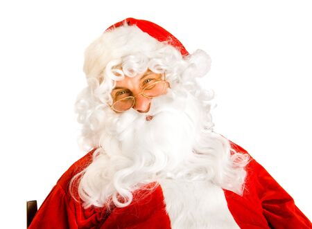 Portrait of Santa Claus,isolated Stock Photo - 7918685