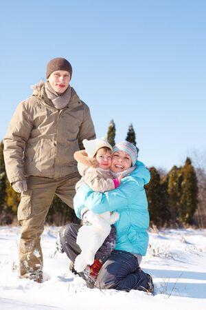 A happy winter family Stock Photo - 7955179