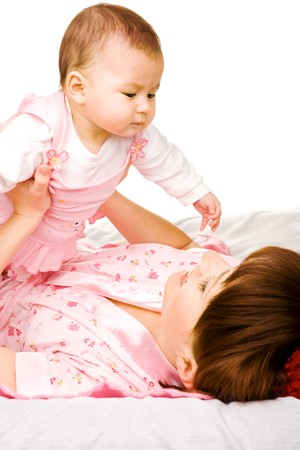 Mother and infant having fun Stock Photo - 7955200