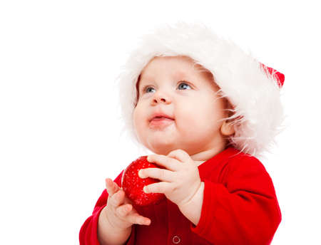 Portrait of little boy in Christmas costume photo