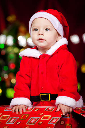 Baby in a present box Stock Photo - 8168607