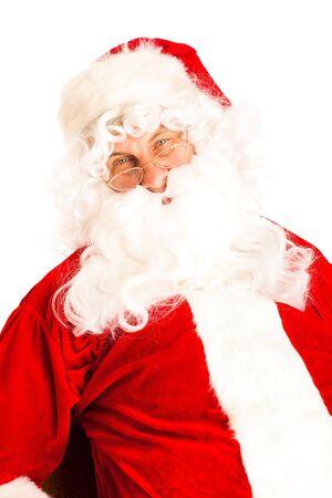 Portrait of Santa Claus, looking into camera photo