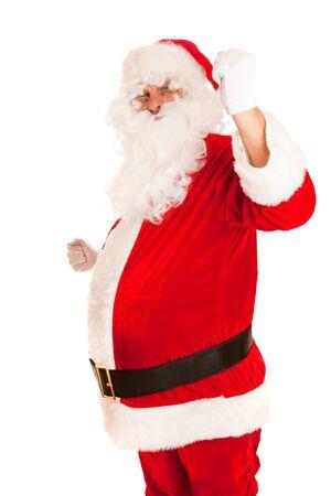 Portrait of strong Santa Claus photo