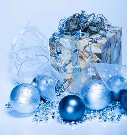 Blue Christmas decoration Stock Photo - 8373178