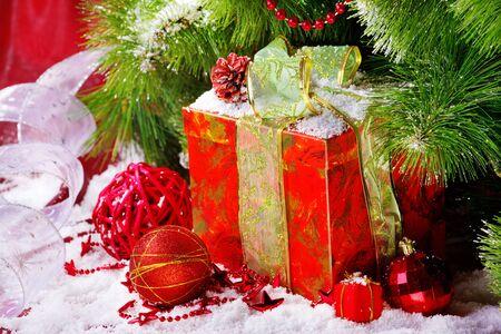 Gift box under Christmas tree Stock Photo - 8373229