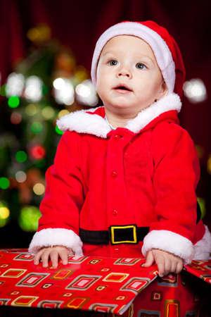 Lovely infant in Santa costume Stock Photo - 8372989