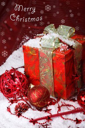 christmas beads: Merry Christmas card