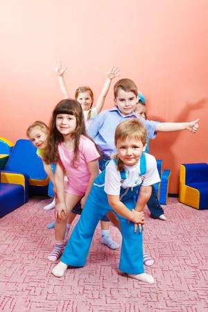 Group of joyful kids photo