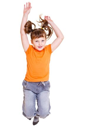 Girl jumping, isolated Stock Photo - 8797331