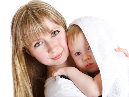 Young mom with her lovely baby son Stock Photo - 8797463