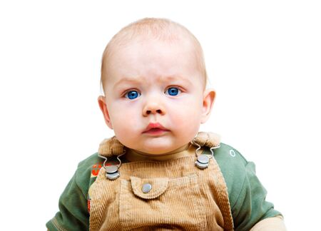 Portrait of a cute kid looking worried Stock Photo - 8866870