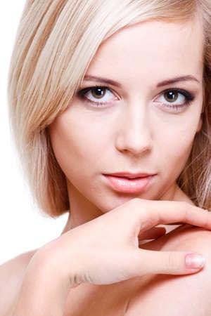 Gorgeous young woman, shot closeup photo