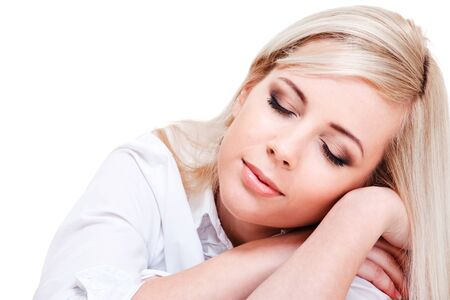 Relaxing woman with her eyes closed Stock Photo - 8978486