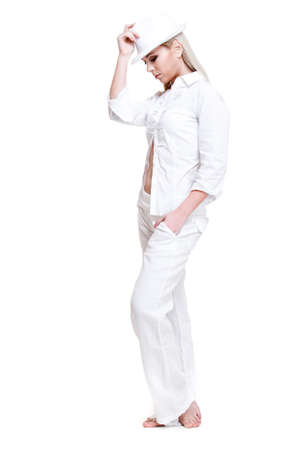 Tender female in white clothing Stock Photo - 9191475