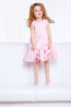 A cute jumping kid Stock Photo - 9330561