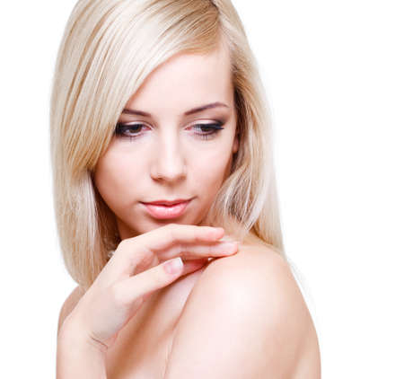 Blond girl with long hair Stock Photo - 9330564