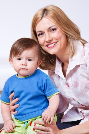 Happy female with her little son Stock Photo - 9476313