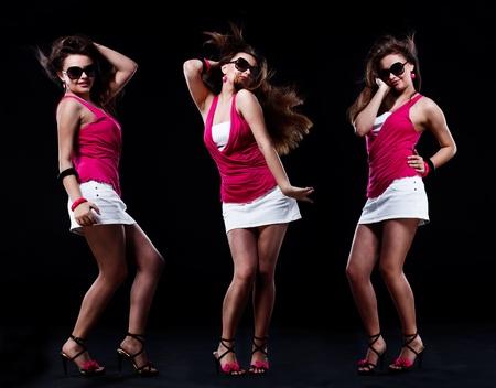 persona cantando: Chica bailando