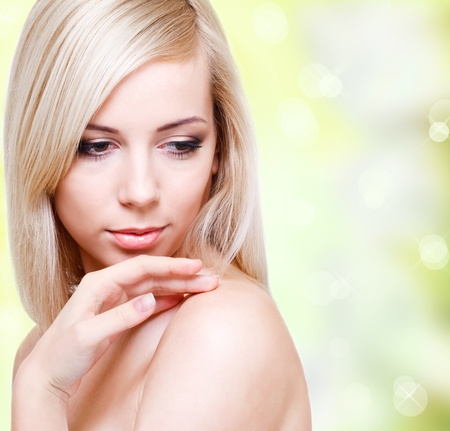 Blond young woman Stock Photo - 9476347