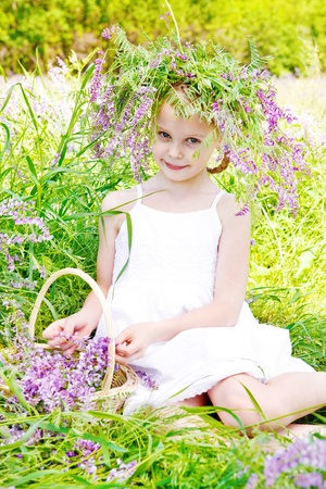 Cute girl in the countryside Stock Photo - 9797667