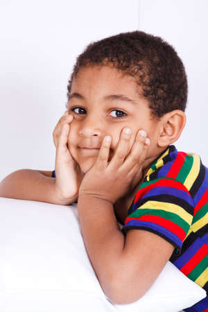 Portrait of an african american boy photo