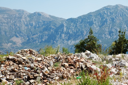 polluted: Garbage in the mountains