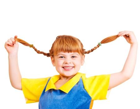red haired girl: Divertente bambina dai capelli rossi