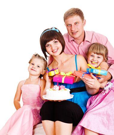 Lovely family celebrating mom's birthday photo