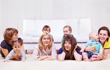 interested baby: Mothers enjoying time with sweet babies