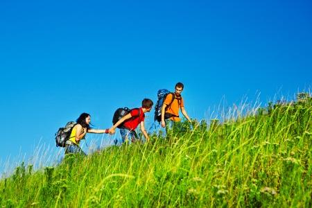 Hiking school holidays for teenagers photo